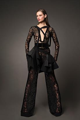 בגד ערב מתחרה שחורה