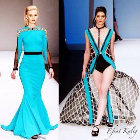 שמלת ערב טורקיז חגורה במותן