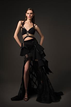 שמלת ערב חצאית אוונגרדית
