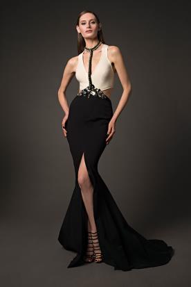 שמלת כלה חגורת אבנים