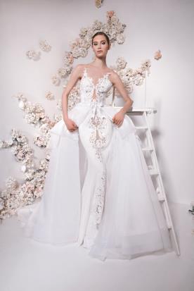 שמלת כלה חצאית קשירה במותן