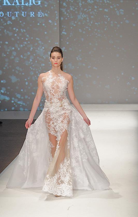 שמלת כלה תחרה מותאמת לגוף