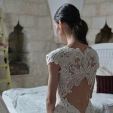 שמלת כלה עם גב מיוחד