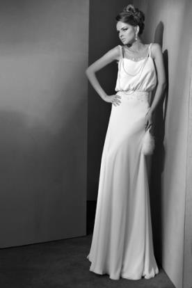 שמלת כלה נשפכת ממשי