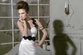 שמלת כלה כתפיה שחורה