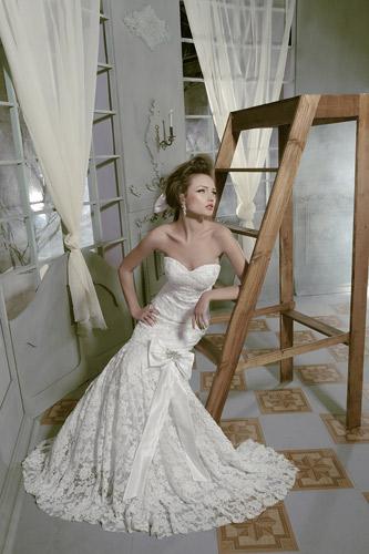 שמלת כלה פפיון סאטן