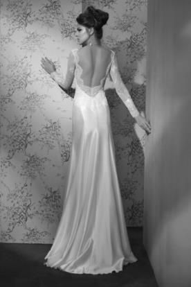 שמלת כלה חצאית פעמון סאטן