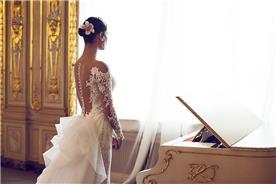 שמלת כלה לבנה גב חשוף