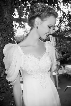 שמלת כלה סאטן ושיפון