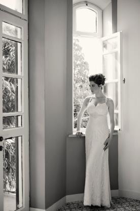 שמלת כלה מקסי חרוזים ותחרה