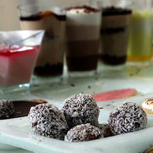 כדורי שוקולד עם קוקוס