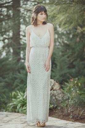 שמלת כלה מקסי בסגנון נשפך