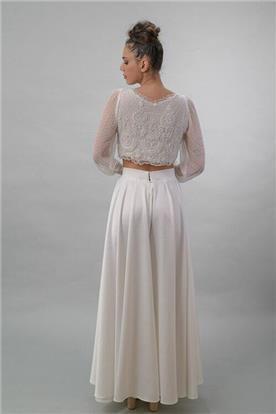 שמלה כלה עם שרוולים