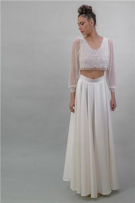 שמלה כלה עם שני חלקים