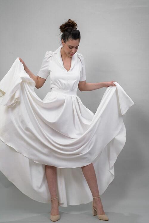 שמלה עם שובל ארוך