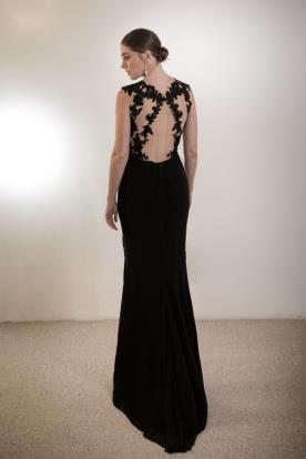 שמלת ערב גב תחרה פתוח