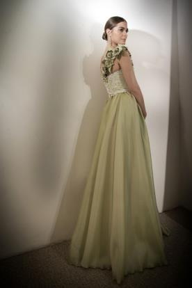 שמלת ערב חצאית קלאסית ירוקה