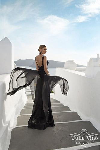 שמלת ערב שיפון שחור