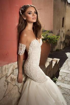 שמלת כלה חצי שרוול