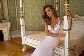 שמלת כלה כתפיות תחרה רומנטיות