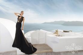שמלת ערב שחורה טופ תחרה