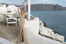 שמלת ערב עם חריזה כסופה