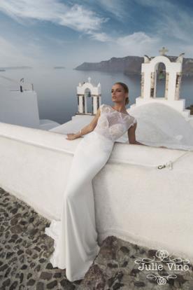 שמלת כלה טופ תחרה עדין