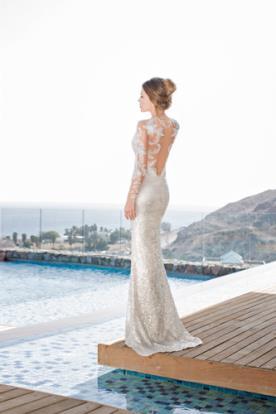 שמלת כלה שמפניה נוצצת