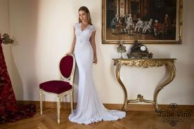 שמלת כלה לבנה עם מחוך