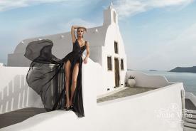 שמלת ערב בגד גוף וחצאית שיפון