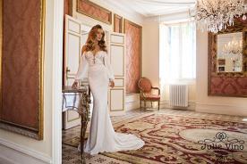 שמלות כלה רומנטתי חגורת זהב