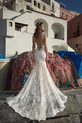 שמלת כלה בת הים תחרה