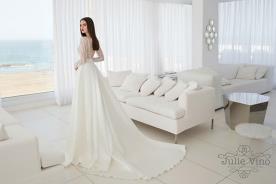 שמלת כלה שובל נשפך רחב