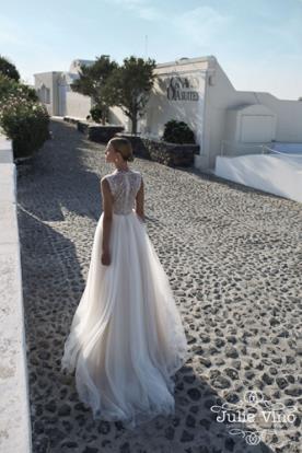 שמלות כלה רומנטית גב מחורז