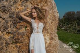 שמלת כלה חצאית שיפון על תחרה