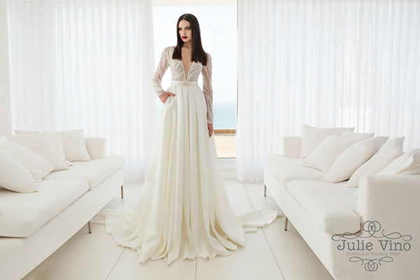 שמלת כלה חצאית דרמתית