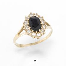 טבעת עם אבן שחורה