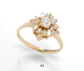 טבעת אירוסין אבנים בולטות