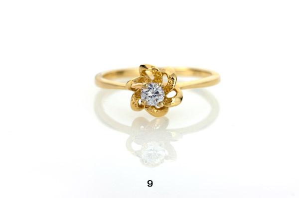 טבעת אירוסין פרח