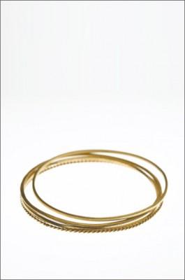 סט צמידי זהב צהוב