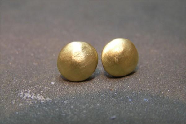 עגילי זהב צהוב עגולים