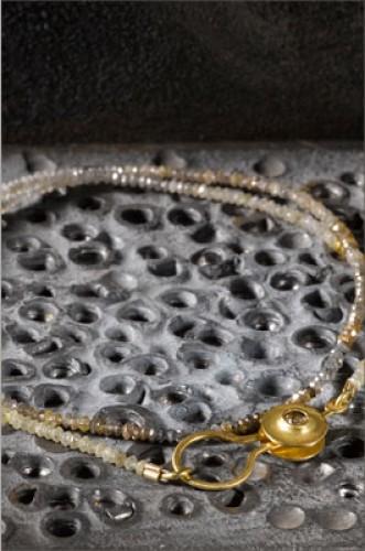 שרשרת חרוזים תליון זהב