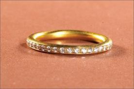 טבעת אירוסין אטרניטי זהב צהוב