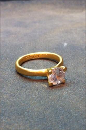 טבעת אירוסין יהלום ורדרד