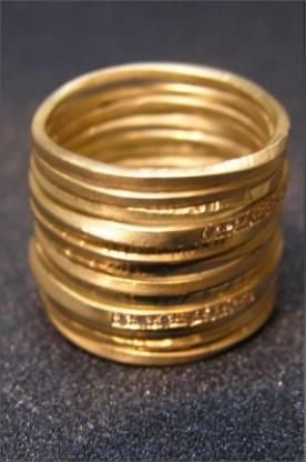 טבעות זהב צהוב עם יהלומים
