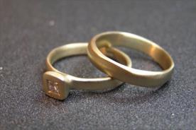 טבעת אירוסין ונישואין יהלום מרובע