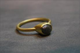 טבעת אירוסין רובי סוליטייר