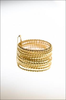 צמיד צמות זהב צהוב