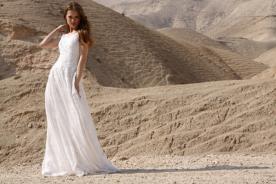 שמלת כלה אלגנטית מבדים מובחרים