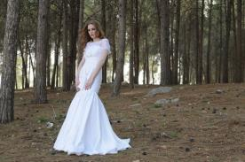 שמלת כלה רכה לחתונה רומנטית